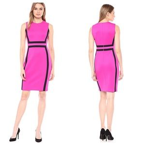 Calvin Klein ColorBlock Scuba Sheath Dress